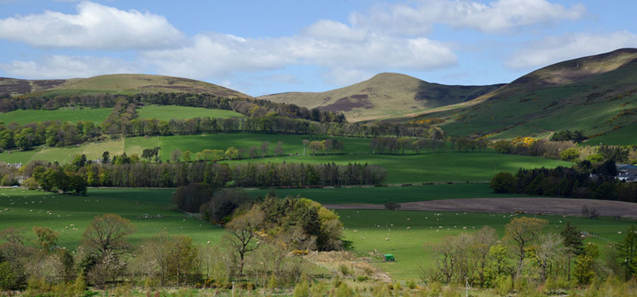 Photo of Pentland Hills Midlothian - credit University of Edinburgh