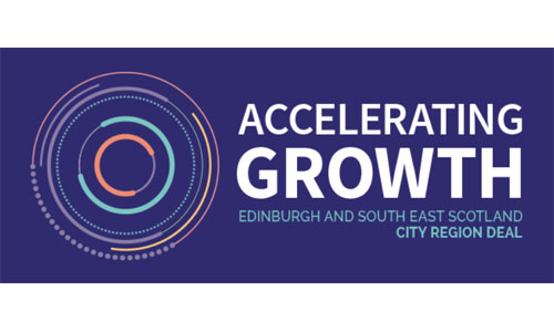 Accelerating Growth logo for Edinburgh and South East Scotland City Region Deal