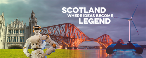 Visit Scotland promotional image for Scotland Where Ideas Become Legend campaign