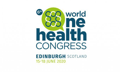 logo for 6th WORLD ONE HEALTH CONGRESS in Edinburgh June 2020