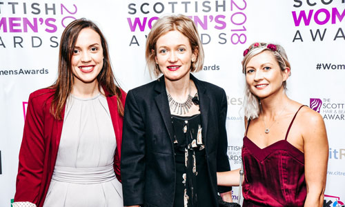 Ingenza at Scottish Women's Award Dr Rita Cruz, winner Dr Alison Arnold  and Lois Henderson
