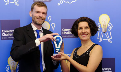 Carbogenics, a spin out the from University of Edinburgh receiving the coveted first prize at the 2018 Converge Challenge awards
